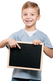 Boy with blackboard Royalty Free Stock Photography