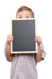 Boy with blackboard Stock Photography