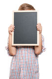 Boy with blackboard Stock Photography