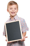 Boy with blackboard Royalty Free Stock Photo