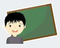 Boy with blackboard Stock Photo