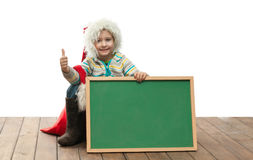 Boy with blackboard Royalty Free Stock Photos