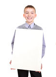 Boy with Blank Board Royalty Free Stock Photography