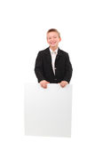 Boy with blank paper Stock Photography