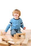 Boy with blocks Stock Image