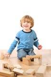 Boy with blocks Stock Image