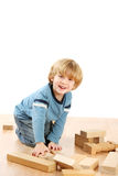 Boy with blocks Royalty Free Stock Images