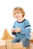 Boy with blocks Stock Photo