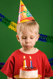 Boy blowing Royalty Free Stock Image