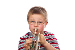 Free Boy Blowing Trumpet Royalty Free Stock Photo - 12624395