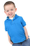 Boy in blue. Young boy in blue clothes isolated on white Stock Image