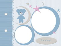 Boy blue photo frame Royalty Free Stock Photo
