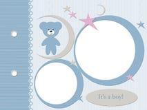 Boy blue photo frame Royalty Free Stock Photo
