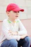 Boy on boardwalk Royalty Free Stock Photos