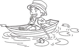 A Boy in a Boat Royalty Free Stock Photography