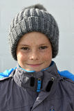 Boy with bobble hat Royalty Free Stock Photo
