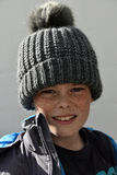 Boy with bobble hat Stock Photo