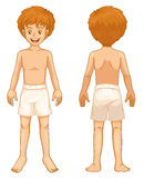 Boy body parts Royalty Free Stock Photo