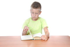 Boy with the book Royalty Free Stock Photos