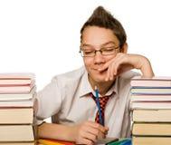 Boy with book stock photos