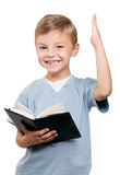 Boy with book Royalty Free Stock Photos