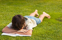 Boy with book Royalty Free Stock Images