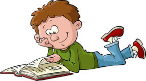 Boy with a book royalty free illustration