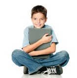 Boy with book Royalty Free Stock Photography