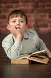 Boy with a book Royalty Free Stock Photos