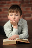 Boy with a book Stock Photo