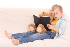 Boy and book Royalty Free Stock Photography