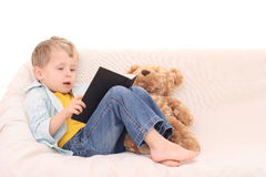 Boy and book Stock Photo