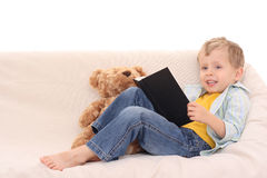 Boy and book Royalty Free Stock Photo