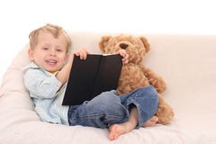 Boy and book Stock Photography