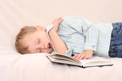 Boy and book Royalty Free Stock Image