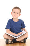 Boy with book Royalty Free Stock Image