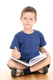 Boy with book Stock Photography