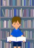 Boy with book Royalty Free Stock Photo