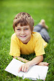 Boy with the book Royalty Free Stock Images