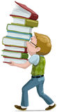 The boy with books Stock Image