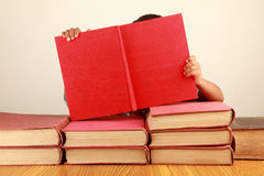 Boy and books Royalty Free Stock Image