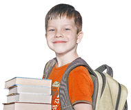 A boy with books Royalty Free Stock Photography