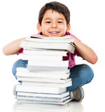 Boy with books Royalty Free Stock Images