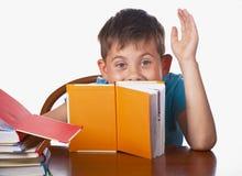 Boy  books Stock Photo