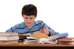 Boy and Books Royalty Free Stock Photography