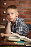 Boy with a books Stock Image