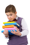 Boy with books for an education Royalty Free Stock Images