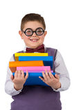 Boy with books for an education Royalty Free Stock Photos