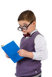 Boy with books for an education Royalty Free Stock Image