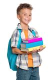 Boy with books Royalty Free Stock Photography